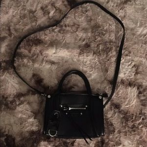 NWOT Black Crossbody with silver hardware